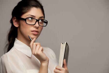 Businesswoman thinking Stock Photo - 16661084