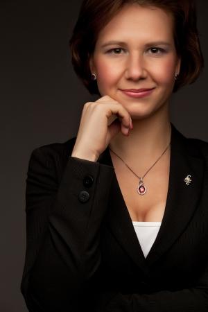 Smiling business woman  Banque d'images
