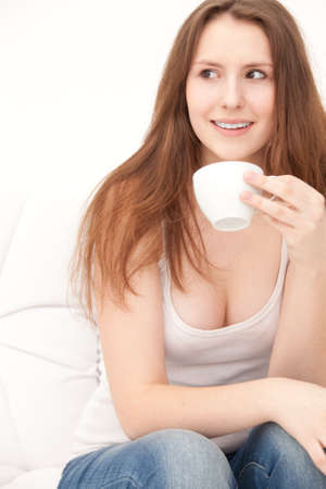 woman with cup photo