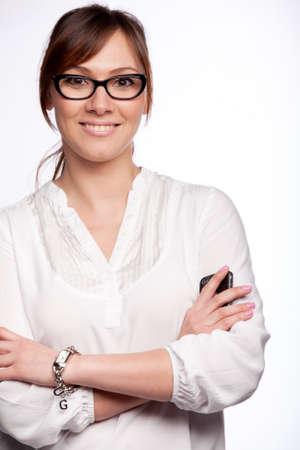 Portrait of smiling woman photo