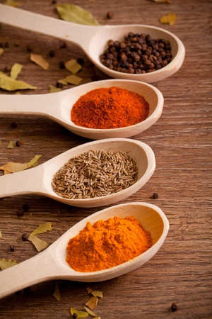 Colorful spices photo