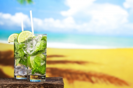 coctail of Mojito Banque d'images