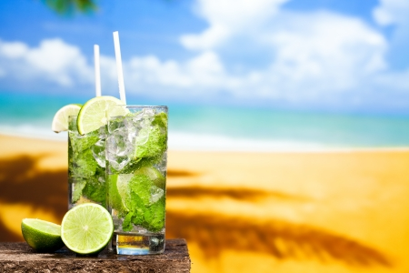 coctail of Mojito Stock Photo