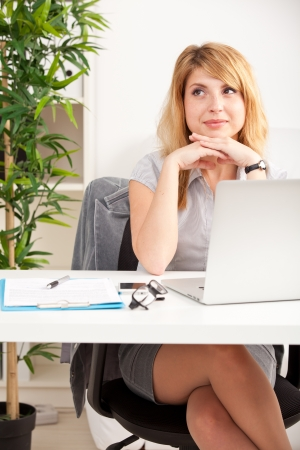 outwork: woman at office