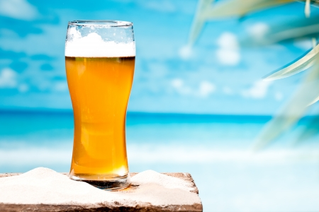 beer at beach photo