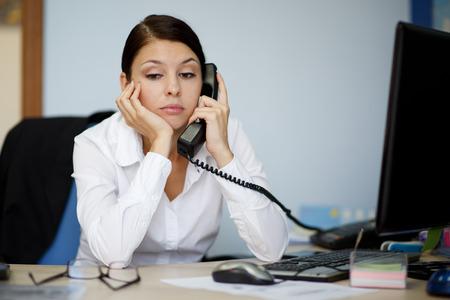 Tired businesswoman photo