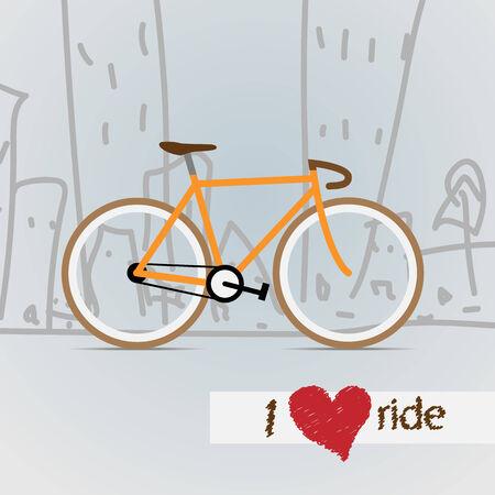City bicycle. Vector. Vector