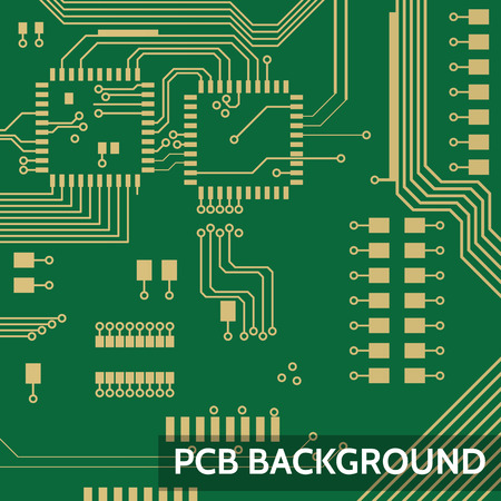 Pcb vector background Illustration
