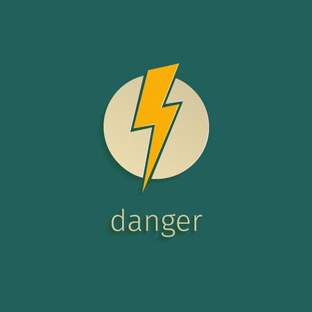 Flat lightning icon in retro style Vector