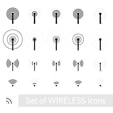 Wireless icons set
