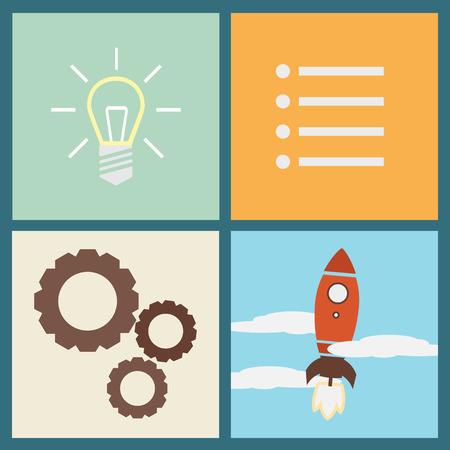 Flat design concept of startup Vector