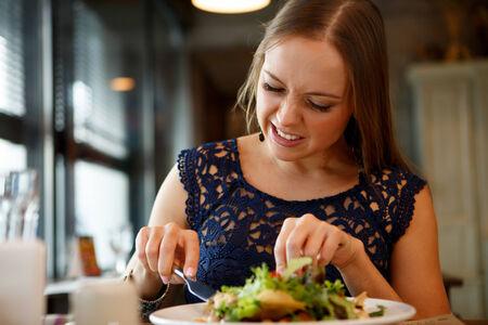 detestable: Bad taste of salad Stock Photo