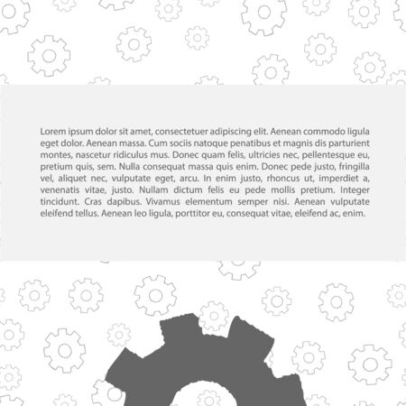 rackwheel: Gears pattern with text