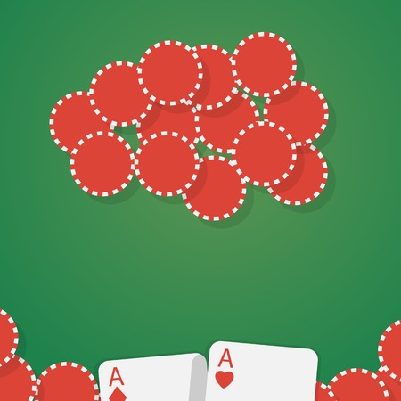 double the chances: Aces and gambling chips