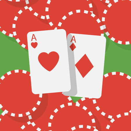 hold em: Aces and gambling chips