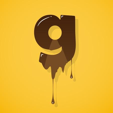 liquid g: Chocolate letter