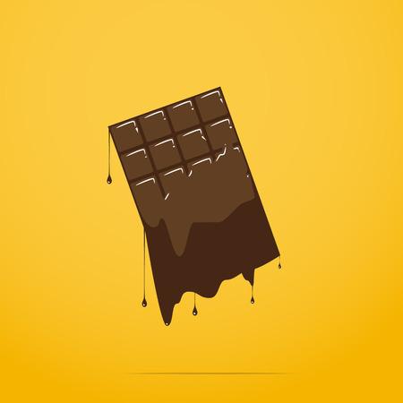 foodstuffs: melted chocolate bar Illustration