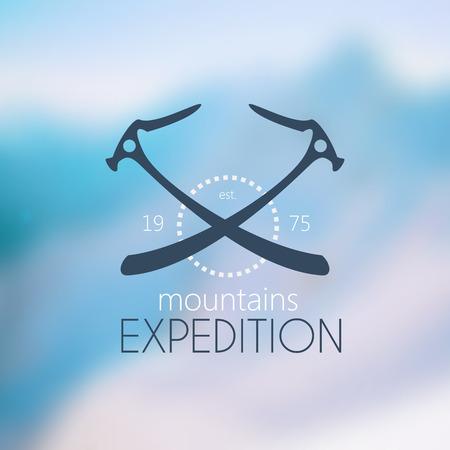 equipment: Vector logo.Climbing equipment Illustration