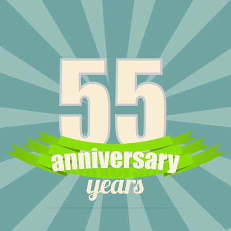 50 to 55 years: Anniversary emblem.