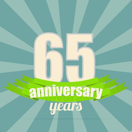 65th: 65 years anniversary retro label