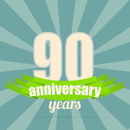 90th: Anniversary emblem.