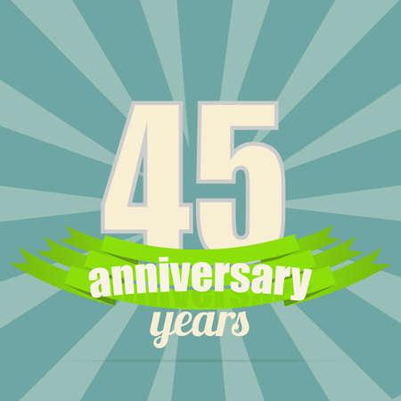 45th: Anniversary emblem.