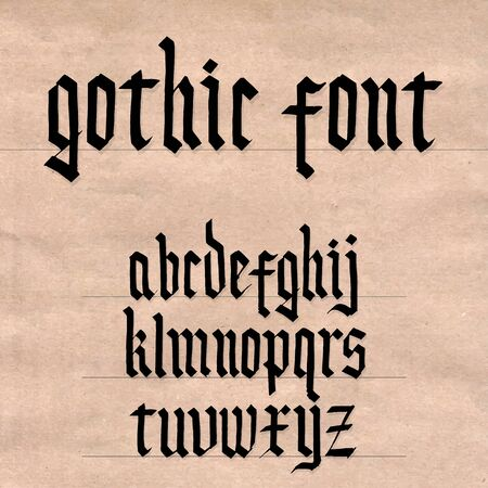 gothic letters: Gothic font