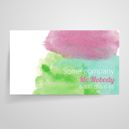 ombre: Business card template Illustration