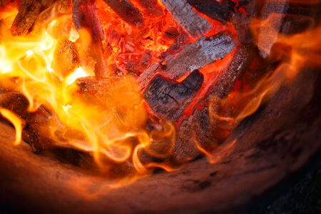 combustible: burning fire