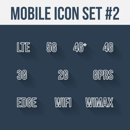 wimax: Mobile telecommunications technology symbol. 10 signs.