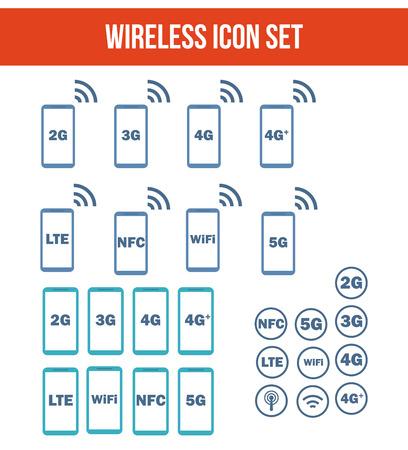 telecommunications technology: Mobile wireless telecommunications technology symbol. Illustration