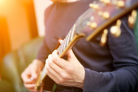 guitar: Electric guitar player