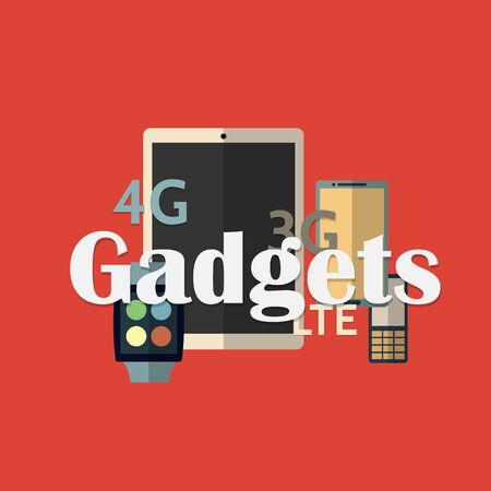 gadget:  illustration of gadget icons.  Illustration
