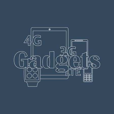 gadget: illustration of gadget icons.