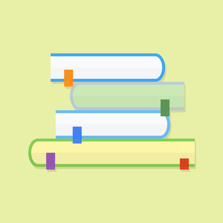 Education book. Flat vector icon with shadow Illustration