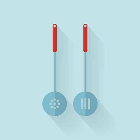 skimmer: Pair of skimmer. Vector illustration in flat style with long shadow