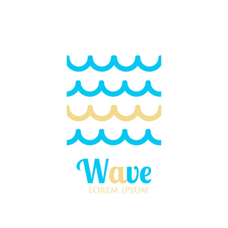 squiggly: Abstract wavy icon. Company logo or presentations. Vector illustration