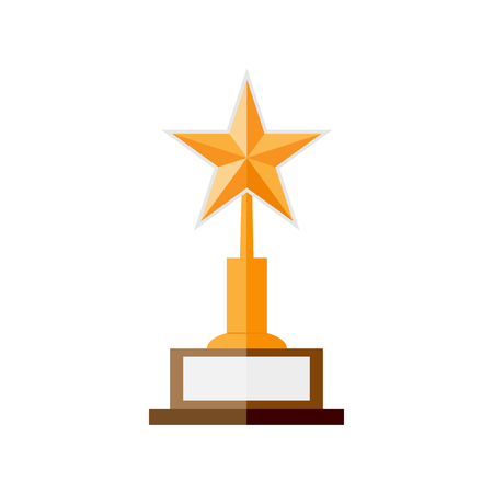 star award: Gold star award. Flat style vector illustration.