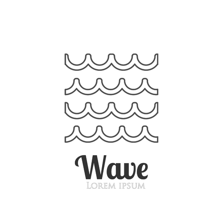 squiggly: Abstract outline wavy icon. Company logo or presentations. Vector illustration