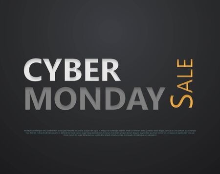gloss: Cyber Monday sale. Paper cut lettering at dark gloss paper