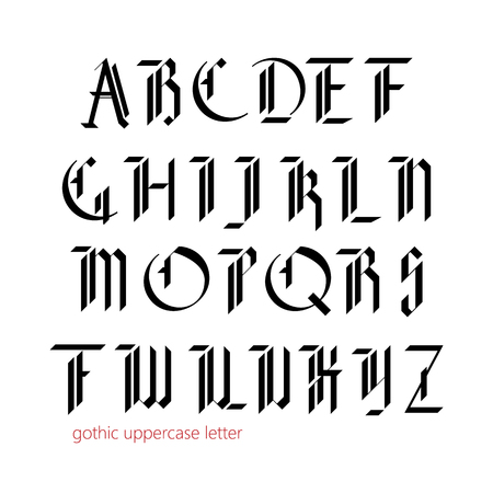 gothic: Blackletter modern gothic font. All uppercase letters