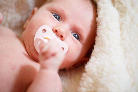 sweet baby girl: Little newborn baby girl