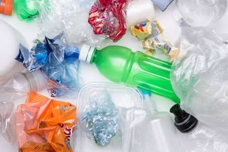 botellas pet: Picture of PET bottles recycle