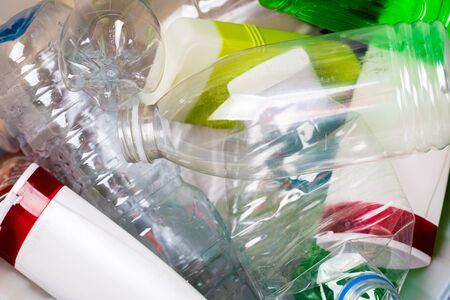 Picture of utilized plastic bottles Stock Photo