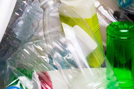 utilized: Photo of utilized plastic bottles