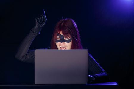 furtive: Night photo of gangster girl