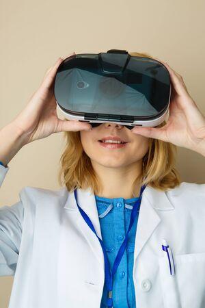 Girl in mask virtual reality