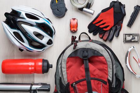 Picture top of biker accessories