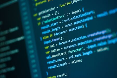 Photos software developer programming code Stock Photo