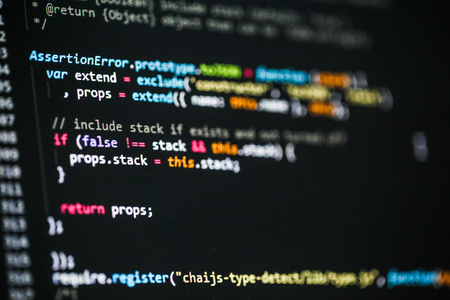 css: Software developer programming code